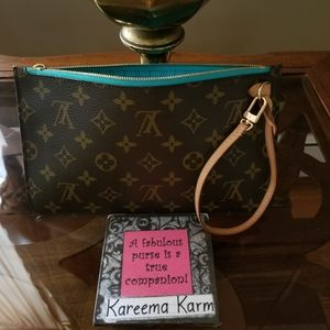 🚫SOLD🚫Limited Edition Turquoise Neverfull Pouch